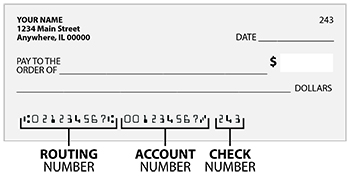 blank check with routing and account numbers