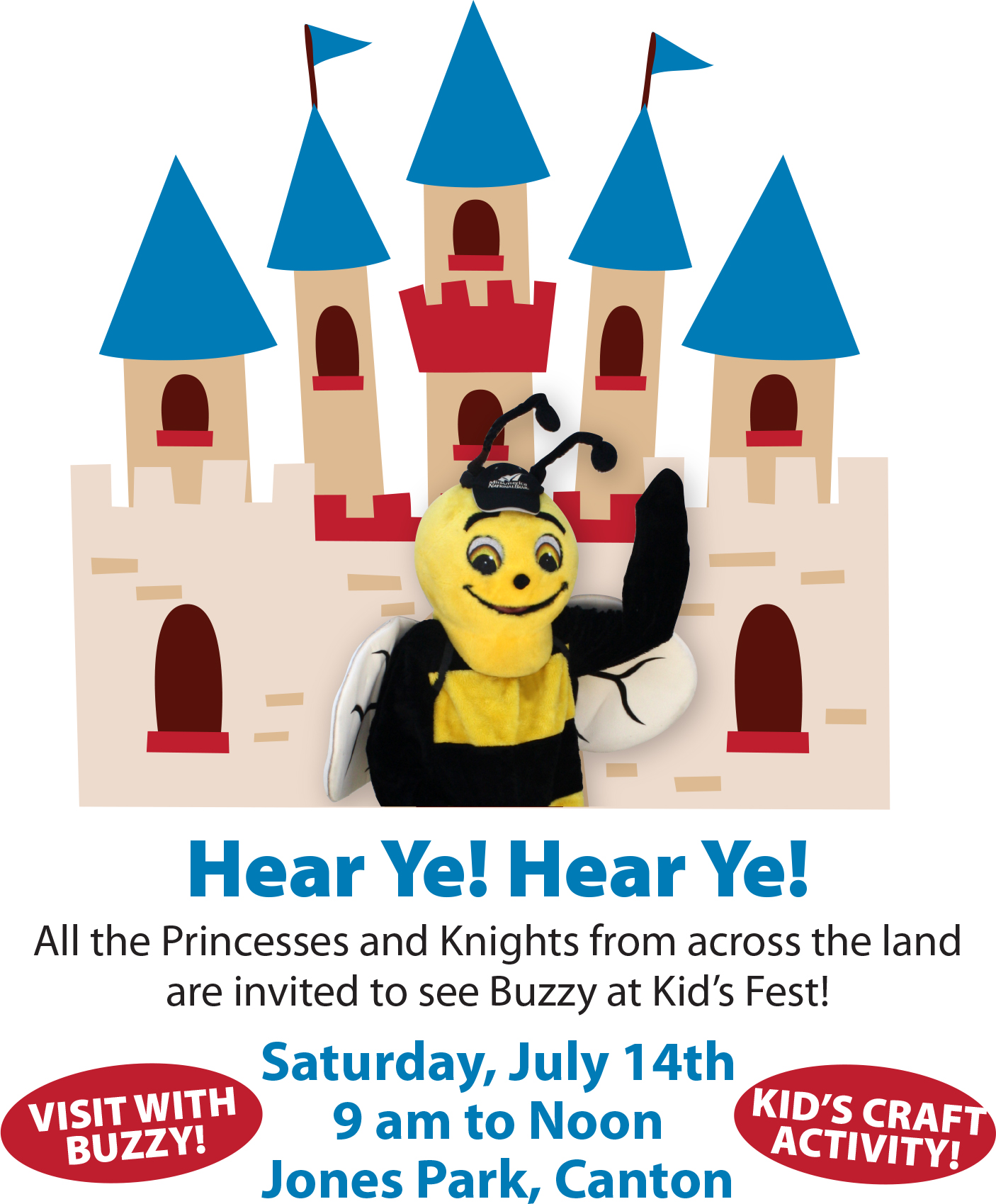 See Buzzy at Kid's Fest on July 14