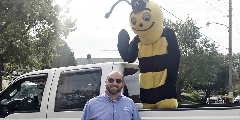 Buzzy at Canton Homecoming Parade