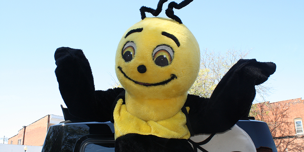 Buzzy at Lewistown Homecoming Parade